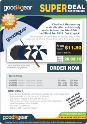 Printed Promotional Umbrellas - Special Prices